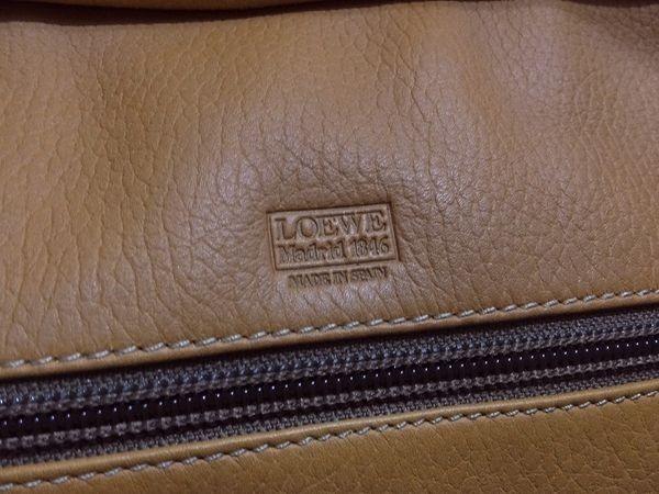 【美品/A】◆本物◆LOEWE ロエベ バッグ アマソナ40 トートバッグ ブリーフケース レザー ロゴ型押し キャメル・ブラウン_画像4
