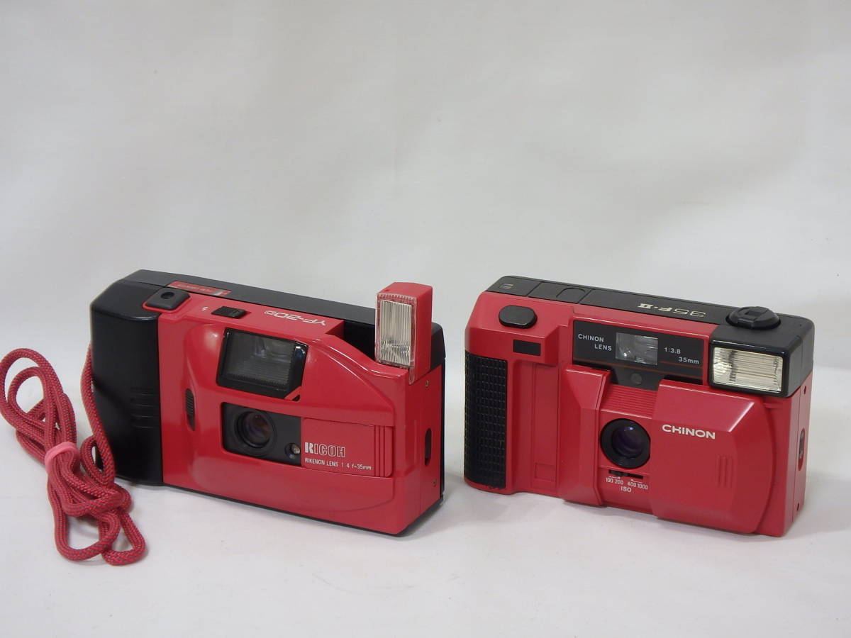 KYOCERA RICOH CHINON Canon KONICA MINOLTA FUJICA 35mm レンズシャッターその他 まとめて ジャンク品セット!AF35ML C35 AF2など _画像3