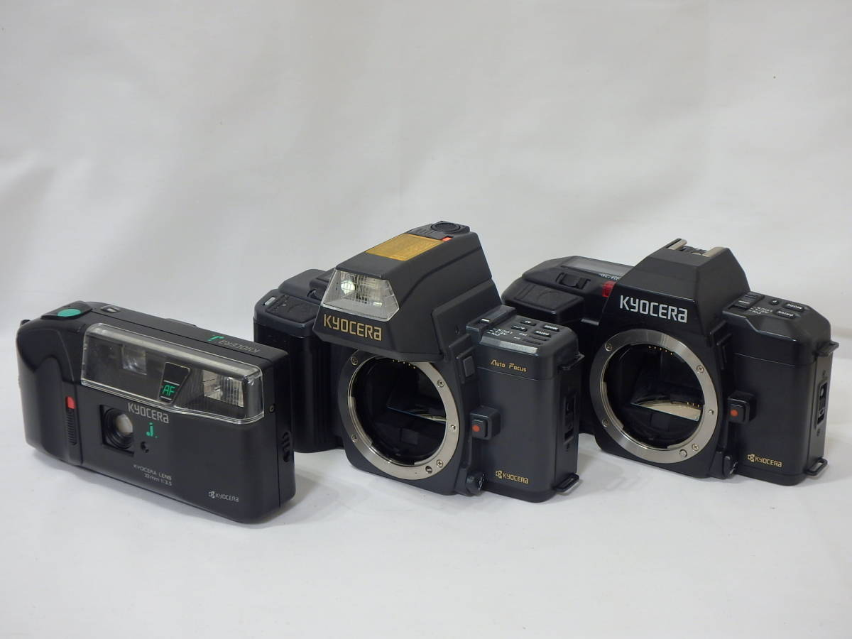 KYOCERA RICOH CHINON Canon KONICA MINOLTA FUJICA 35mm レンズシャッターその他 まとめて ジャンク品セット!AF35ML C35 AF2など _画像5