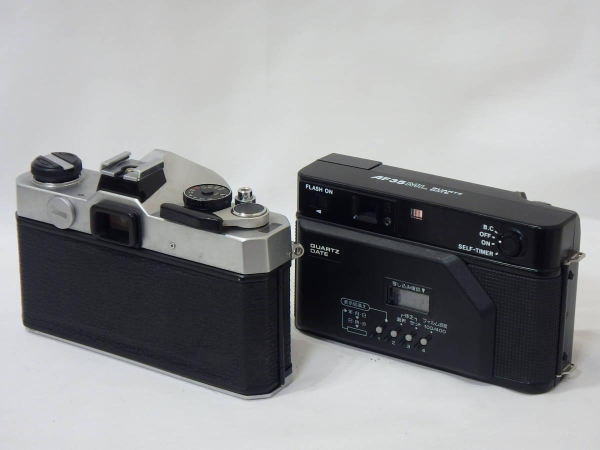 KYOCERA RICOH CHINON Canon KONICA MINOLTA FUJICA 35mm レンズシャッターその他 まとめて ジャンク品セット!AF35ML C35 AF2など _画像8