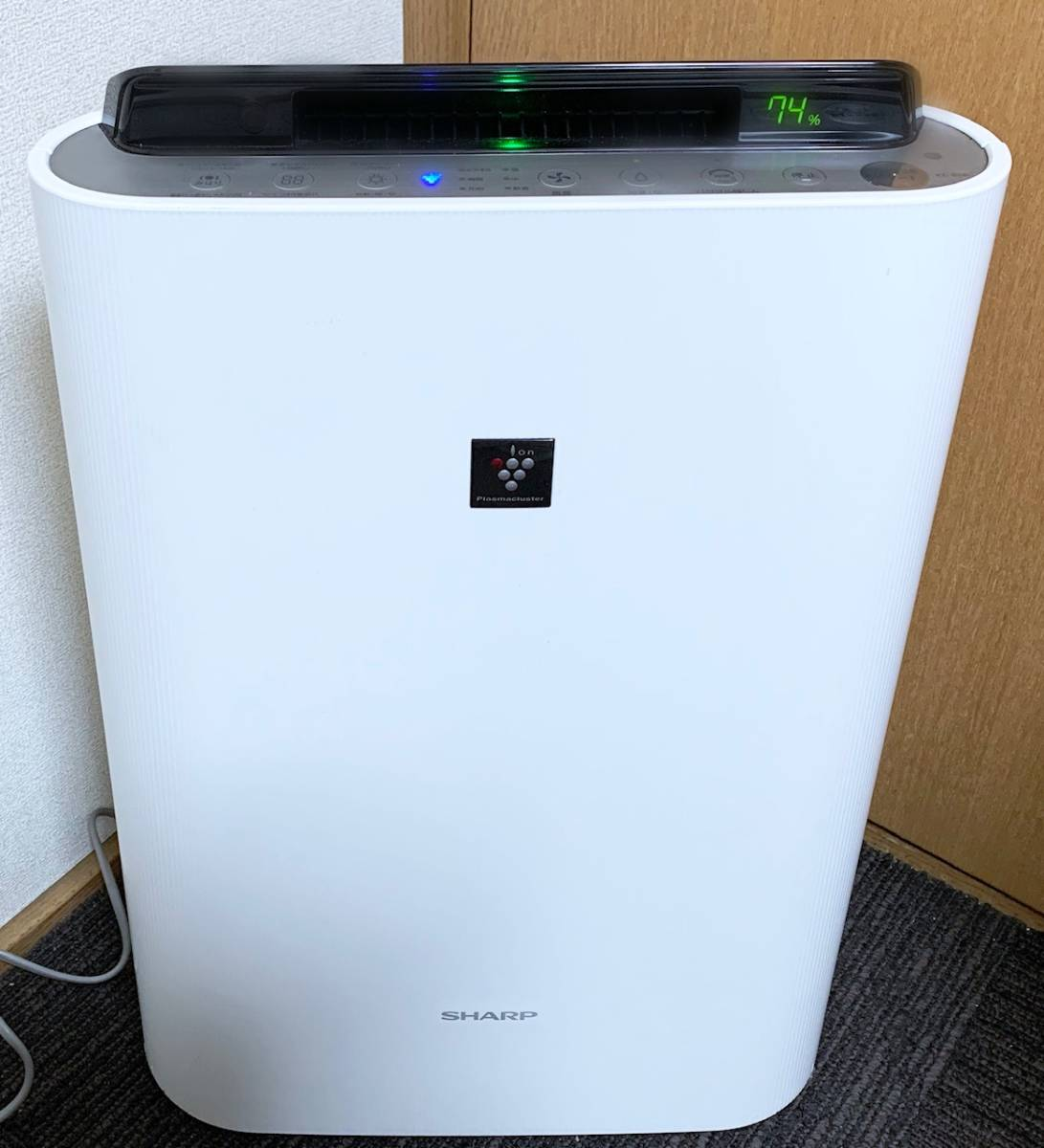 [KC-E50*23 татами *2015 год производства * очень красивый товар ]PM2.5 соответствует *SHARP* увлажнение очиститель воздуха * высокая плотность