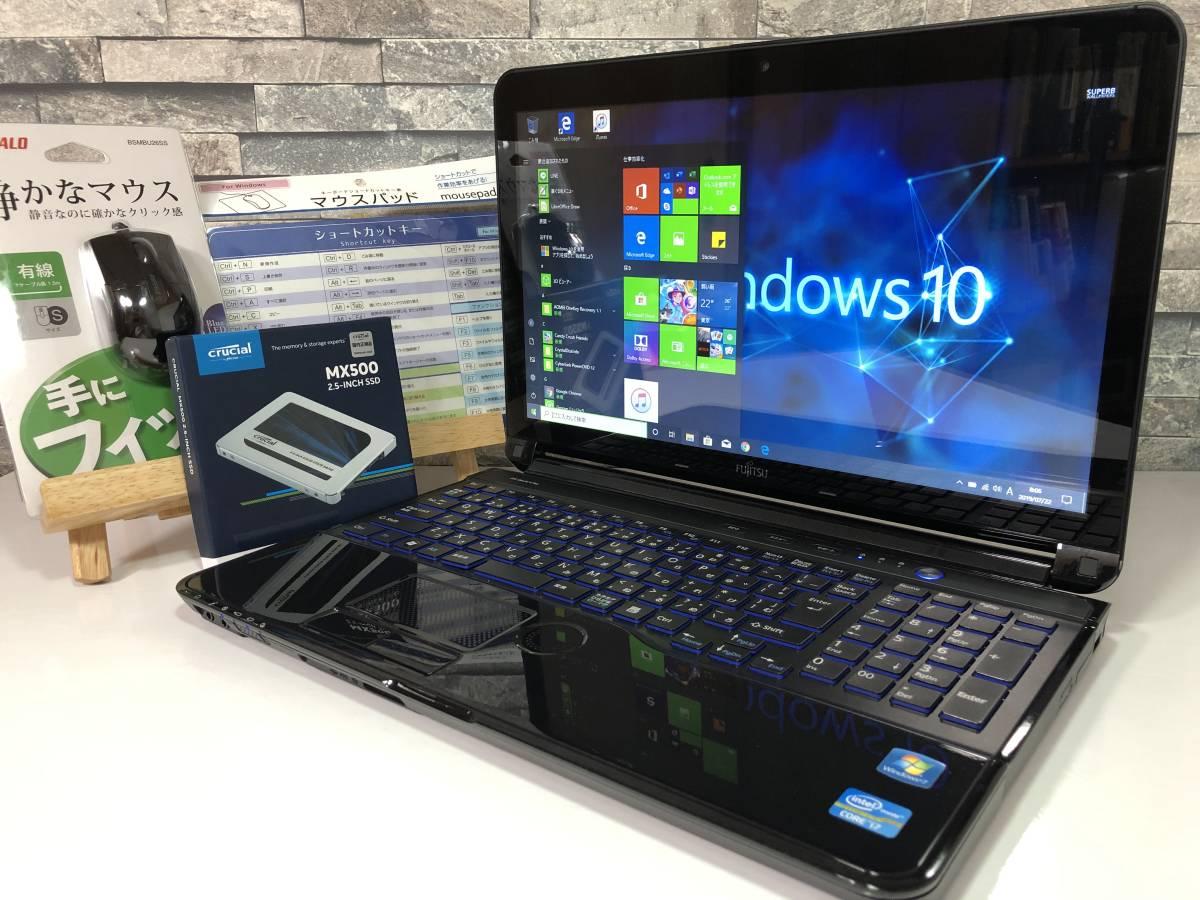 爆速新品SSD500GB搭載(^^♪液晶キレイ!!