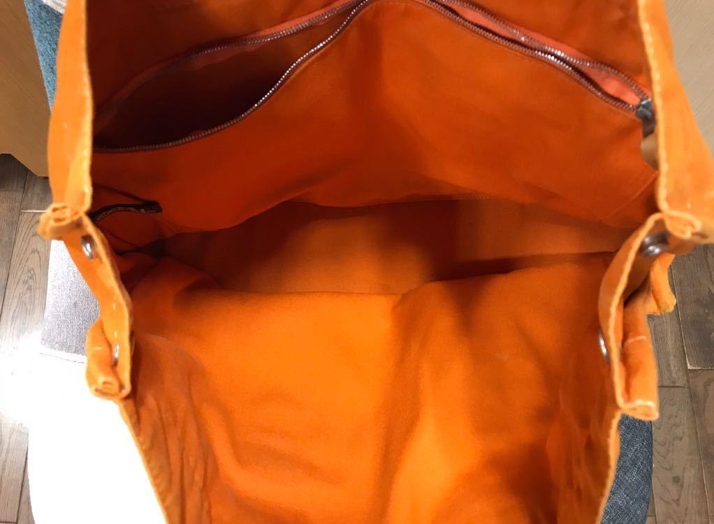 レア☆HERMES エルメス フールトゥMM ハワイフレンチフェスティバル オレンジ ハンドバッグ トートバッグ レディース_画像2