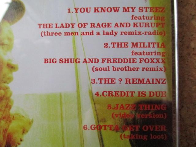 Gang Starr/The ? Remainz ギャング・スター 98年 日本限定発売の、大傑作・大名盤♪国内盤 帯有り♪!廃盤♪!リミックス盤♪DJプレミア♪_画像3