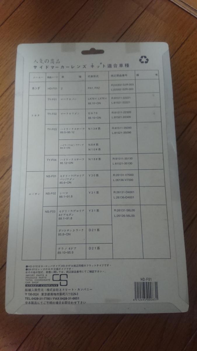 ホンダZ PA1 クリアウインカーレンズ フロント用_画像2