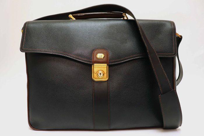 【美品】dunhill London ダンヒル  ビジネスバッグ  ブリーフケース メンズ レザー ショルダー付き ビジネス鞄 かばん _画像2