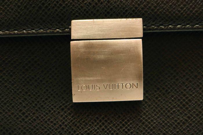【美品】Louis Vuitton ルイヴィトン タイガ アンガラ ビジネスバッグ ブリーフケース メンズ アルドワーズ ブラック ビジネス鞄 _画像7