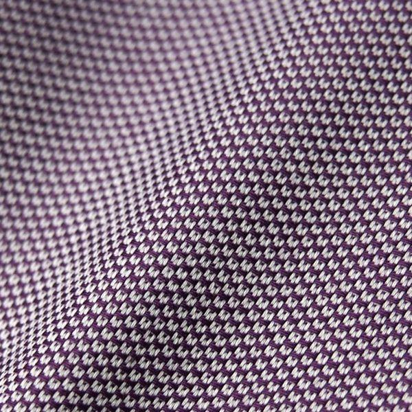 新品 春夏 DURBAN ダーバン 形態安定 スナップ釦付き 微光沢ジャガード ドレスシャツ 長袖シャツ 40-82 紫 メンズ ビジネス_画像5