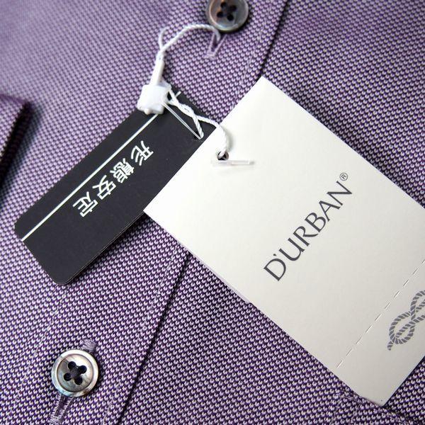 新品 春夏 DURBAN ダーバン 形態安定 スナップ釦付き 微光沢ジャガード ドレスシャツ 長袖シャツ 40-82 紫 メンズ ビジネス_画像4