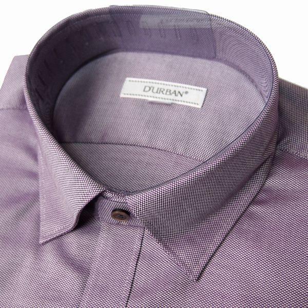 新品 春夏 DURBAN ダーバン 形態安定 スナップ釦付き 微光沢ジャガード ドレスシャツ 長袖シャツ 40-82 紫 メンズ ビジネス_画像2
