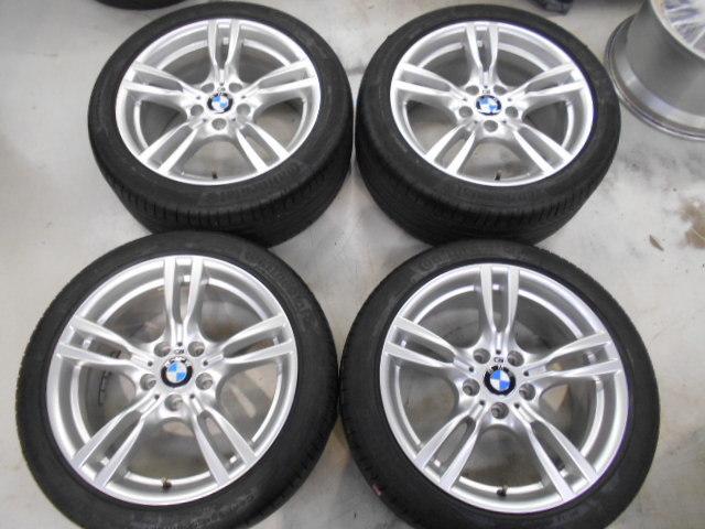 【売り切り】傷直し無しの綺麗品!! BMW F30 3シリーズ 純正 Mスポーツ スタースポーク 400M 18インチ ランフラットタイヤ付き_画像2