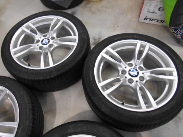 【売り切り】傷直し無しの綺麗品!! BMW F30 3シリーズ 純正 Mスポーツ スタースポーク 400M 18インチ ランフラットタイヤ付き_画像3