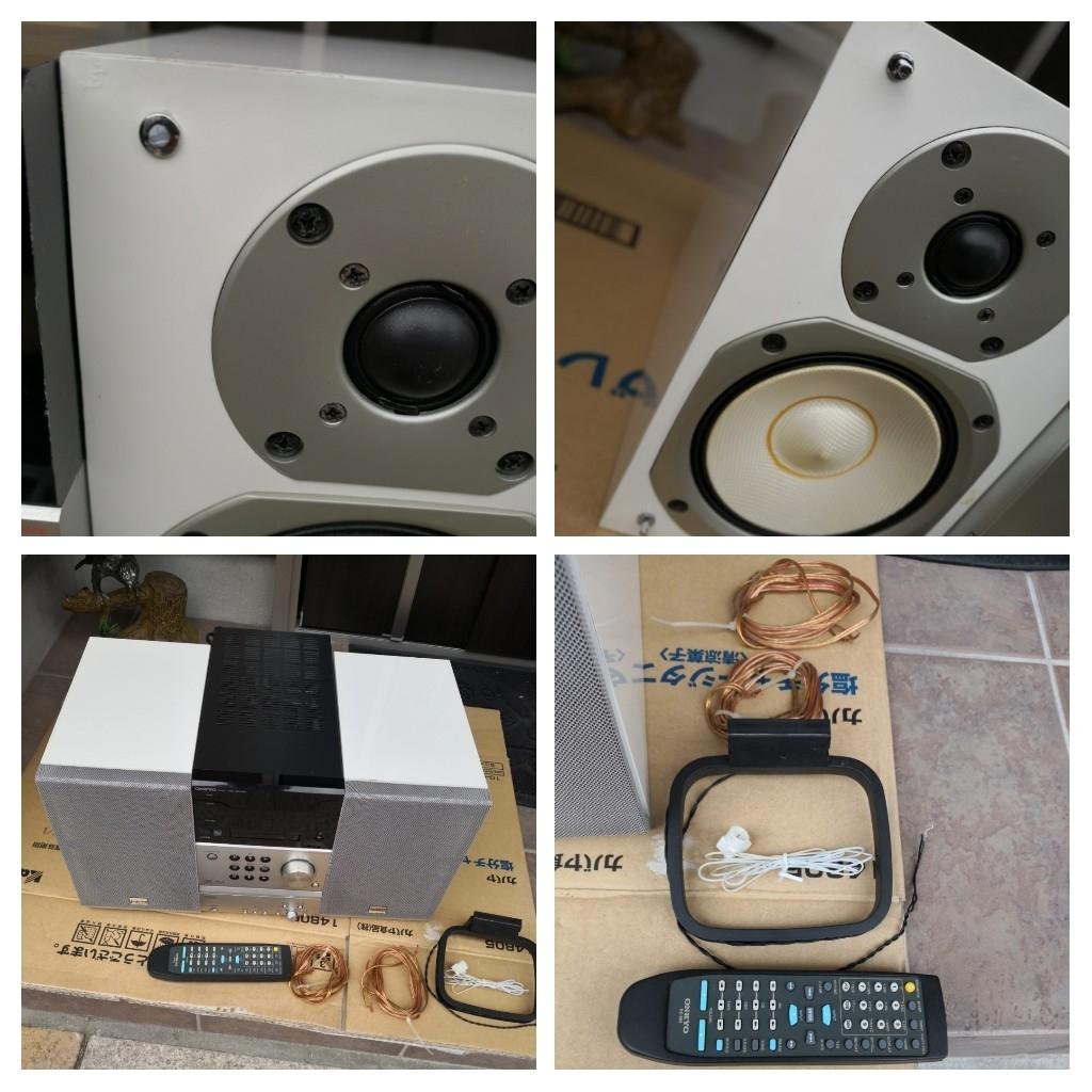 ONKYO/オンキョー FR-B8 MD/CDコンポ スピーカー_画像4