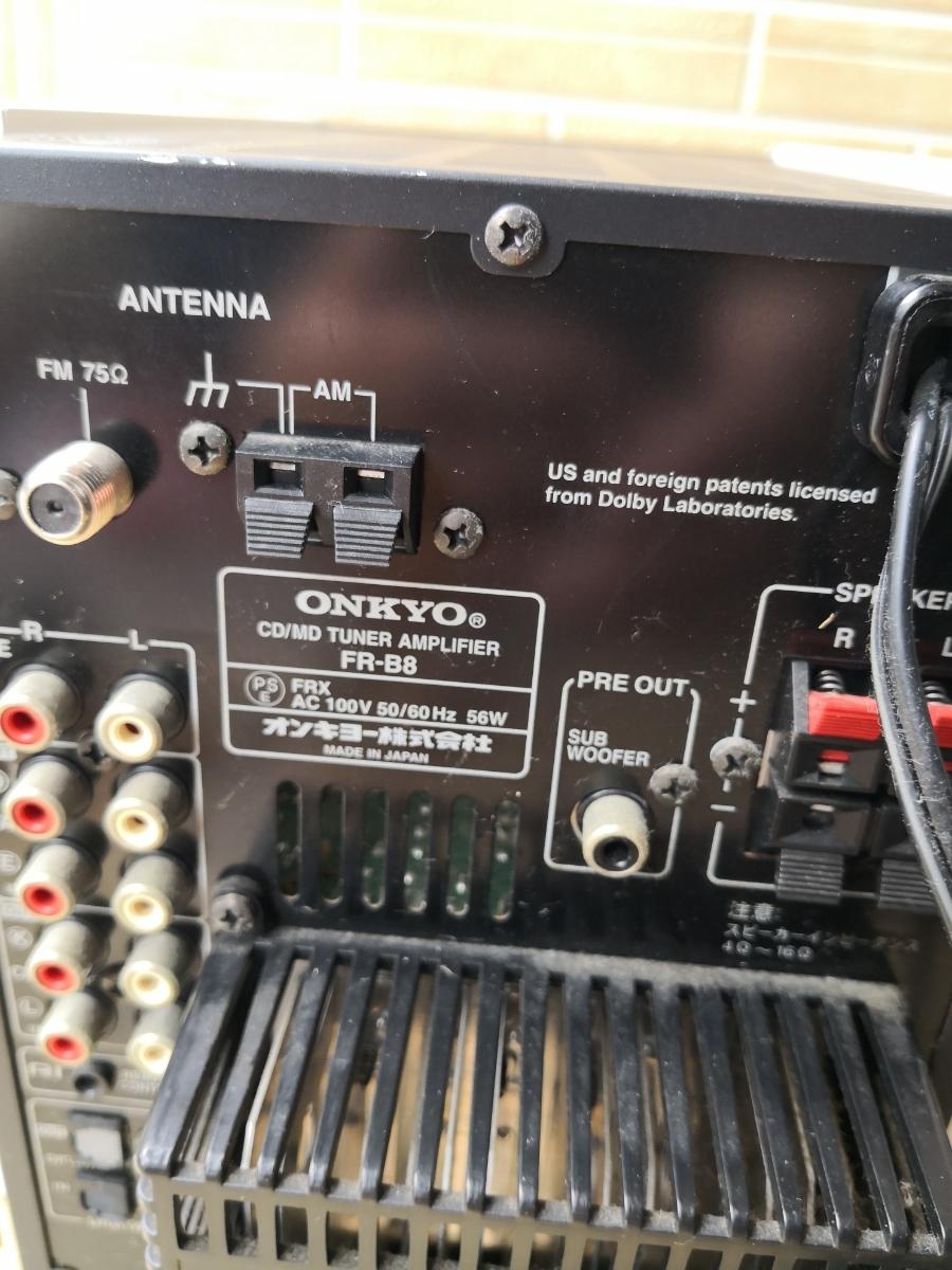 ONKYO/オンキョー FR-B8 MD/CDコンポ スピーカー_画像7