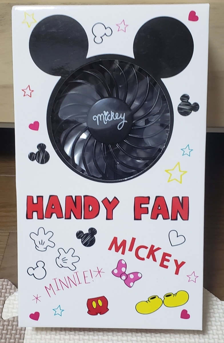 ディズニー ハンディファン 扇風機 ミッキーマウス ストラップ付