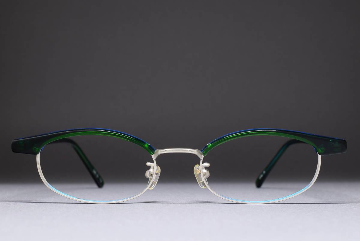 デッドストック DURABLE SR D-73 col-4 48-18 ブロウライン メガネ サングラス フレーム 日本製 グリーン
