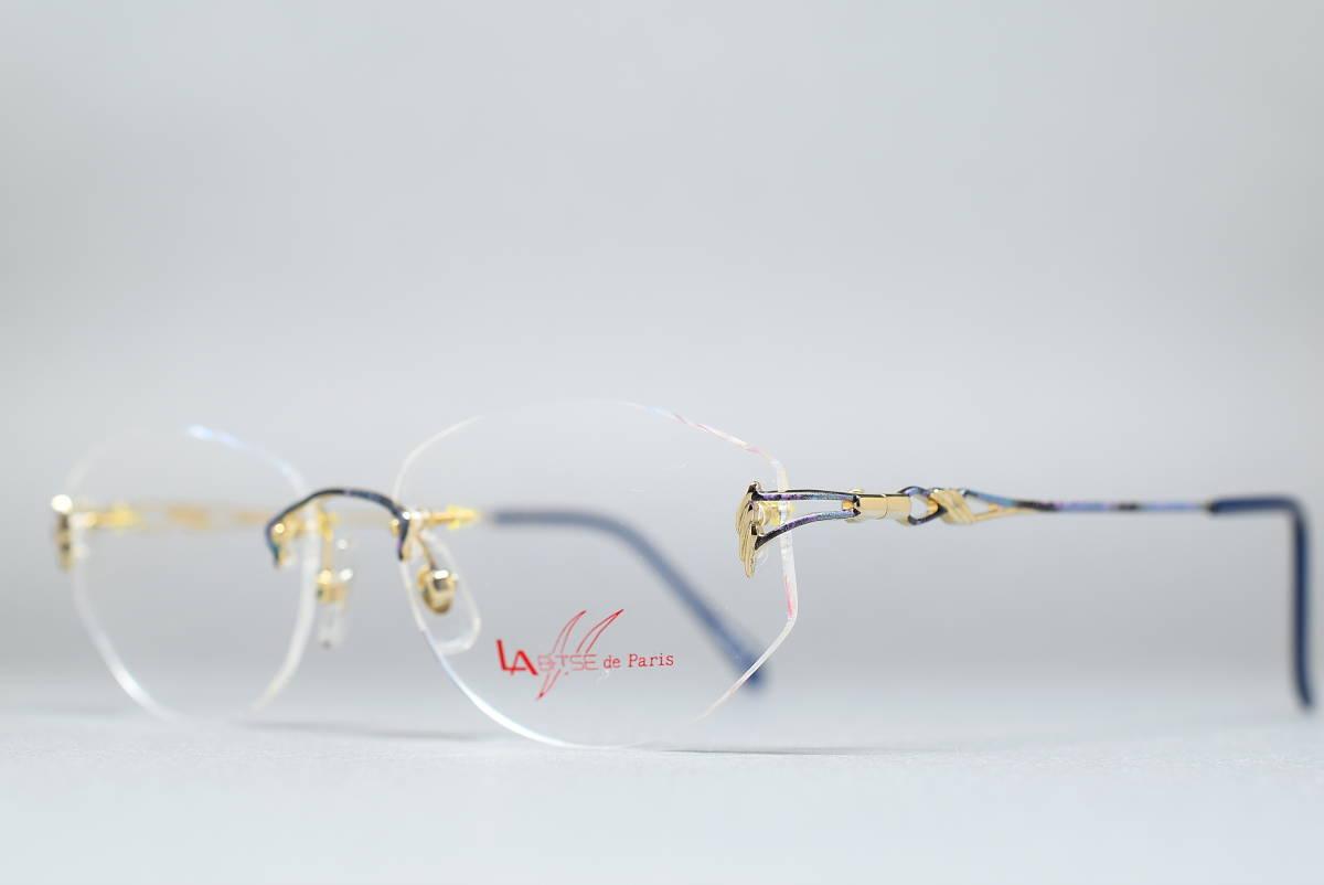 未使用品 LA BRISE de Paris LB-010 チタン製 ツーポイント メガネ サングラス フレーム 53-14 日本製 ふちなし リムレス_画像3