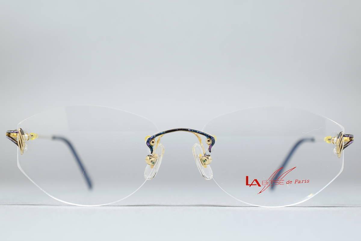 未使用品 LA BRISE de Paris LB-010 チタン製 ツーポイント メガネ サングラス フレーム 53-14 日本製 ふちなし リムレス_画像2