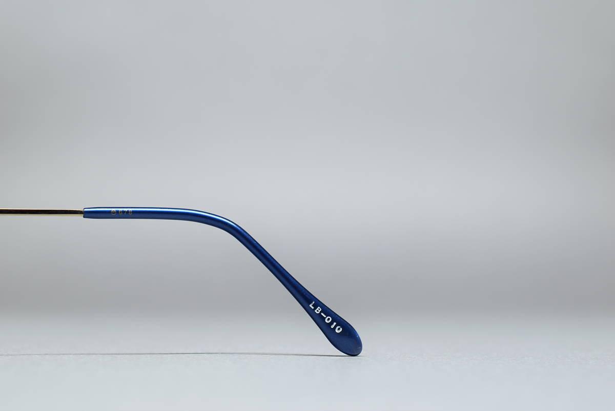 未使用品 LA BRISE de Paris LB-010 チタン製 ツーポイント メガネ サングラス フレーム 53-14 日本製 ふちなし リムレス_画像4
