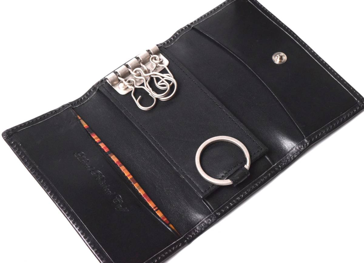 translation have unused Paul Smith Paul Smith hand stain leather key case key ring attaching black