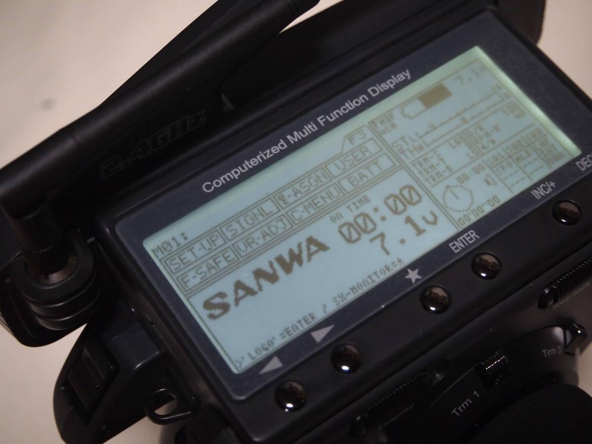 サンワ M11X 2.4G 送信機のみ 純正急速充電器付 美品 無限精機 京商 タミヤ ヨコモ サーパント インフィニティ XRAY HPI_画像2