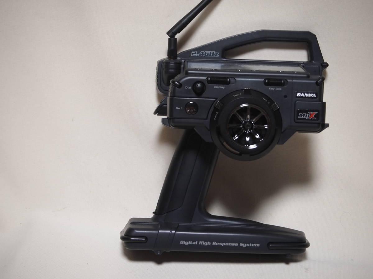 サンワ M11X 2.4G 送信機のみ 純正急速充電器付 美品 無限精機 京商 タミヤ ヨコモ サーパント インフィニティ XRAY HPI_画像5