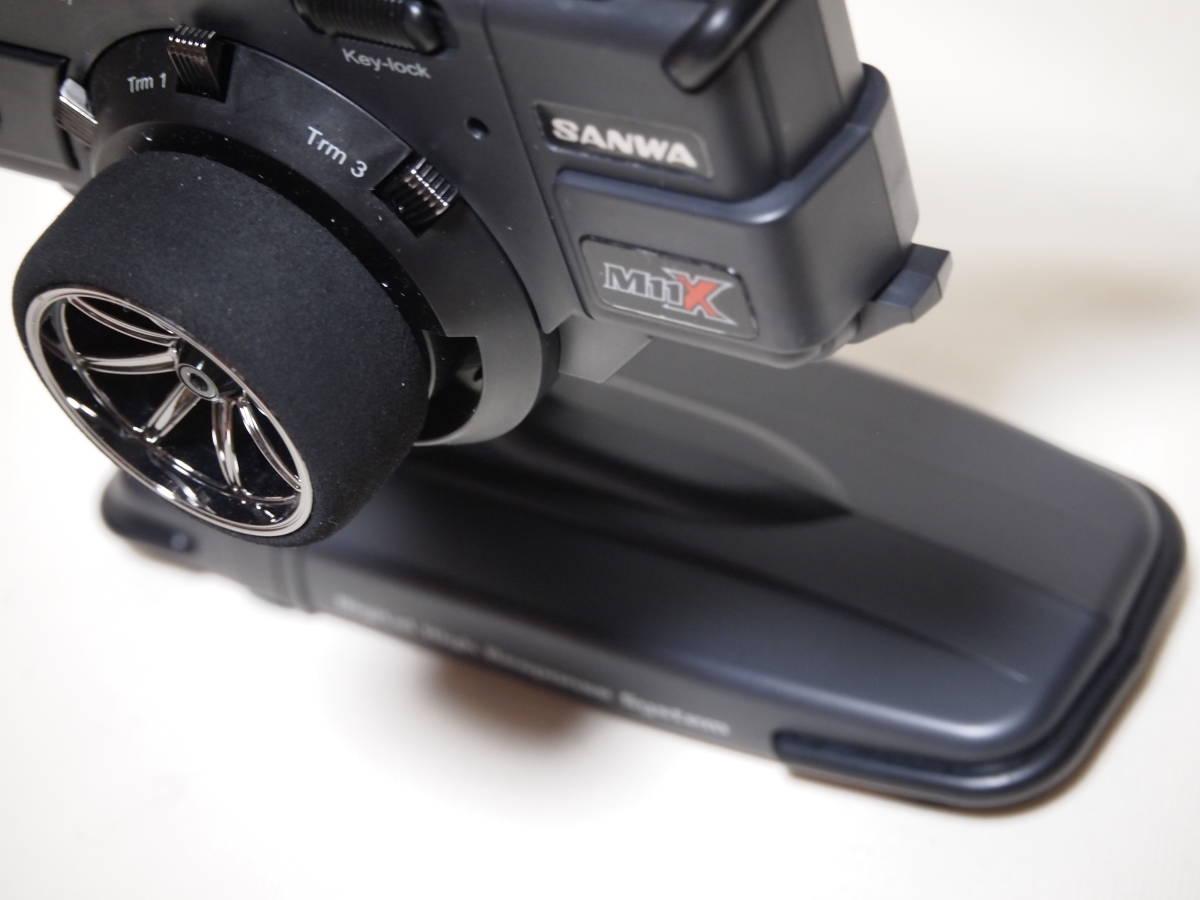 サンワ M11X 2.4G 送信機のみ 純正急速充電器付 美品 無限精機 京商 タミヤ ヨコモ サーパント インフィニティ XRAY HPI_画像7