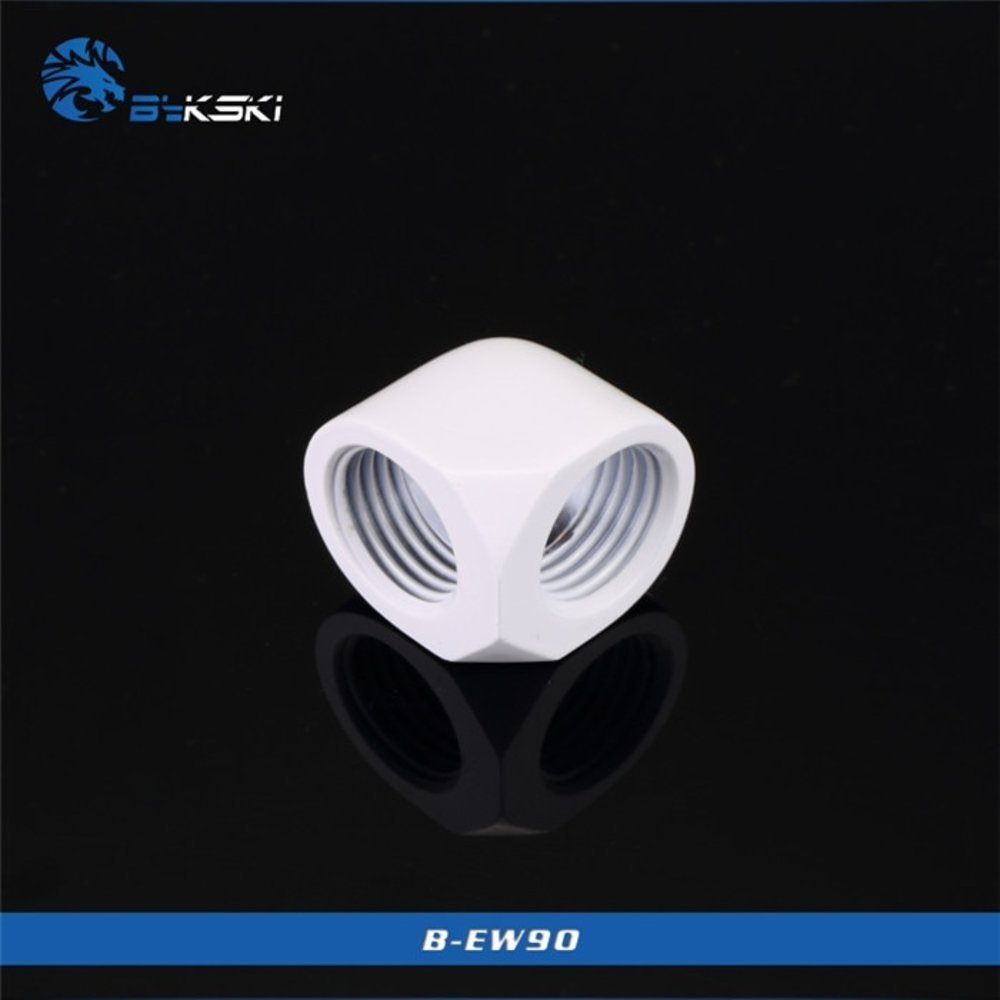 Bykski Angle 90 Fitting Double Female G1/4'' 90 Degree Connector Metal Fitting use for Wat_画像5