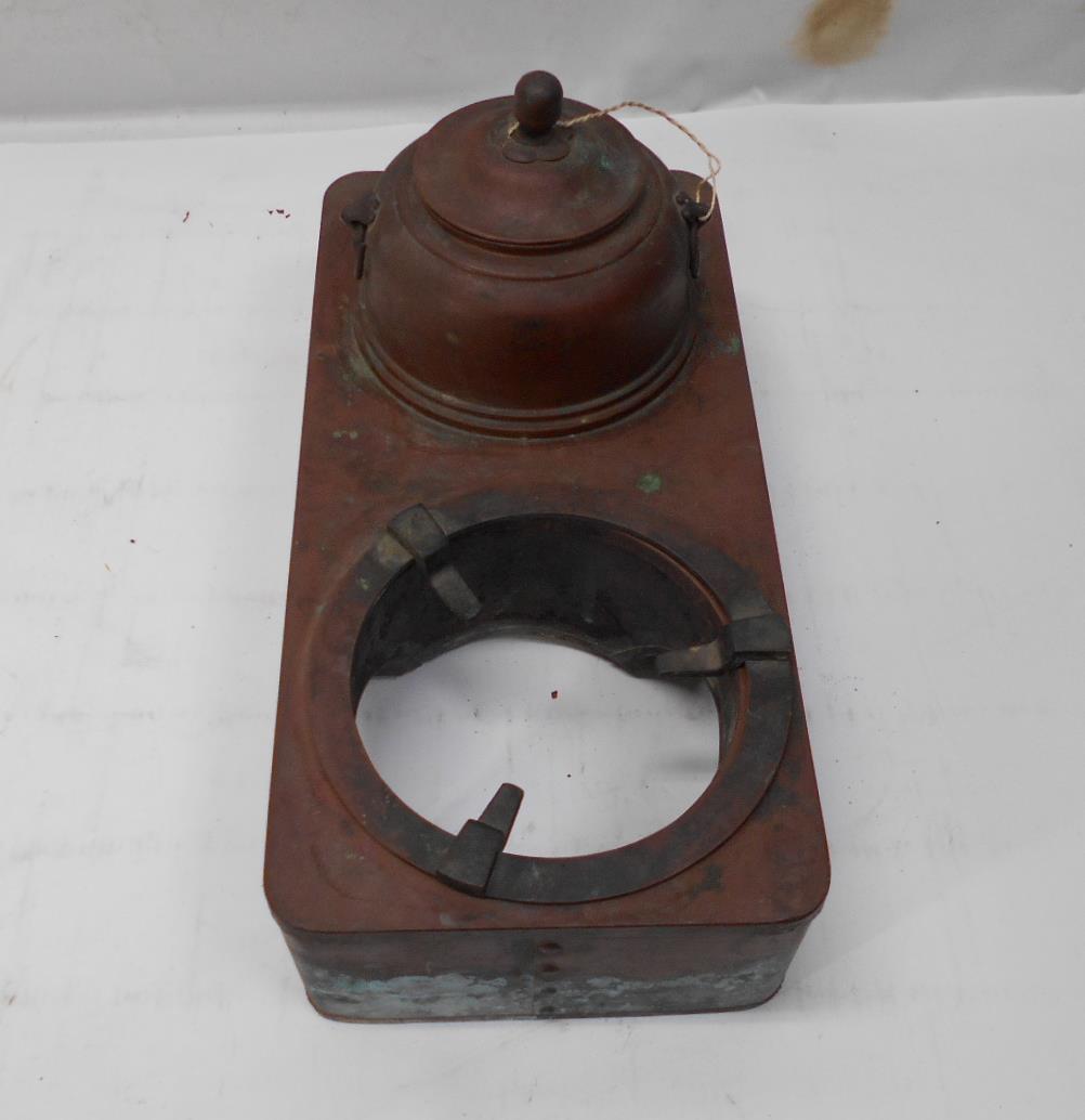 さなえ111 時代 銅製 どうこう 鉄瓶かけ 酒燗入れ 箱火鉢用 古道具 越前蔵うぶ出し _画像5