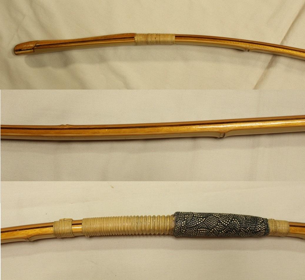 金文字?小倉紫峯 特製 和弓 約221.5cm 運賃着払 0722R3r_画像8