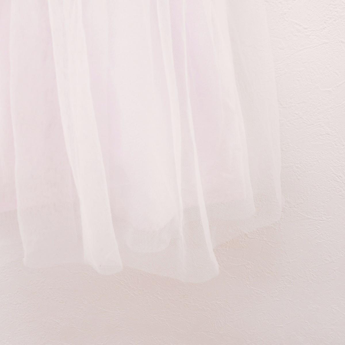 mezzo piano メゾピアノ 110cm キャミ ワンピース ジャンバー スカート ピンク ストライプ チュール レース スカート_画像4