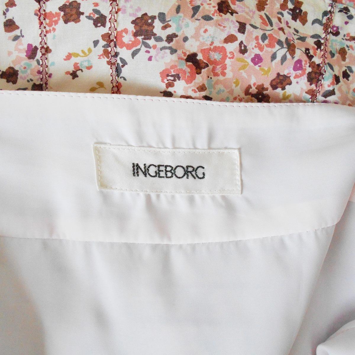 インゲボルグ INGEBORG 春夏 向き シルク 47% 入り 小花 プリント フレア スカート 11_画像8