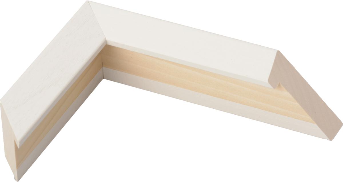 額縁 油絵額縁 油彩額縁 木製フレーム 仮縁 仮額縁 出展用木製仮縁 3485 ホワイト サイズ P15号_画像1