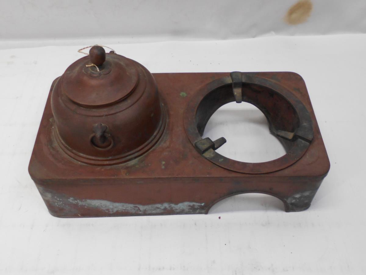 さなえ111 時代 銅製 どうこう 鉄瓶かけ 酒燗入れ 箱火鉢用 古道具 越前蔵うぶ出し _画像6