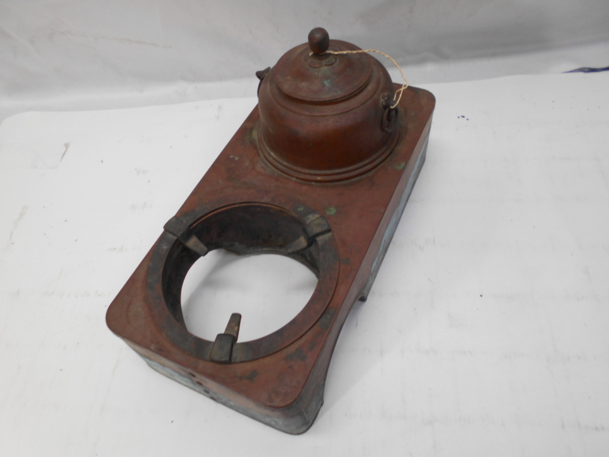 さなえ111 時代 銅製 どうこう 鉄瓶かけ 酒燗入れ 箱火鉢用 古道具 越前蔵うぶ出し _画像9