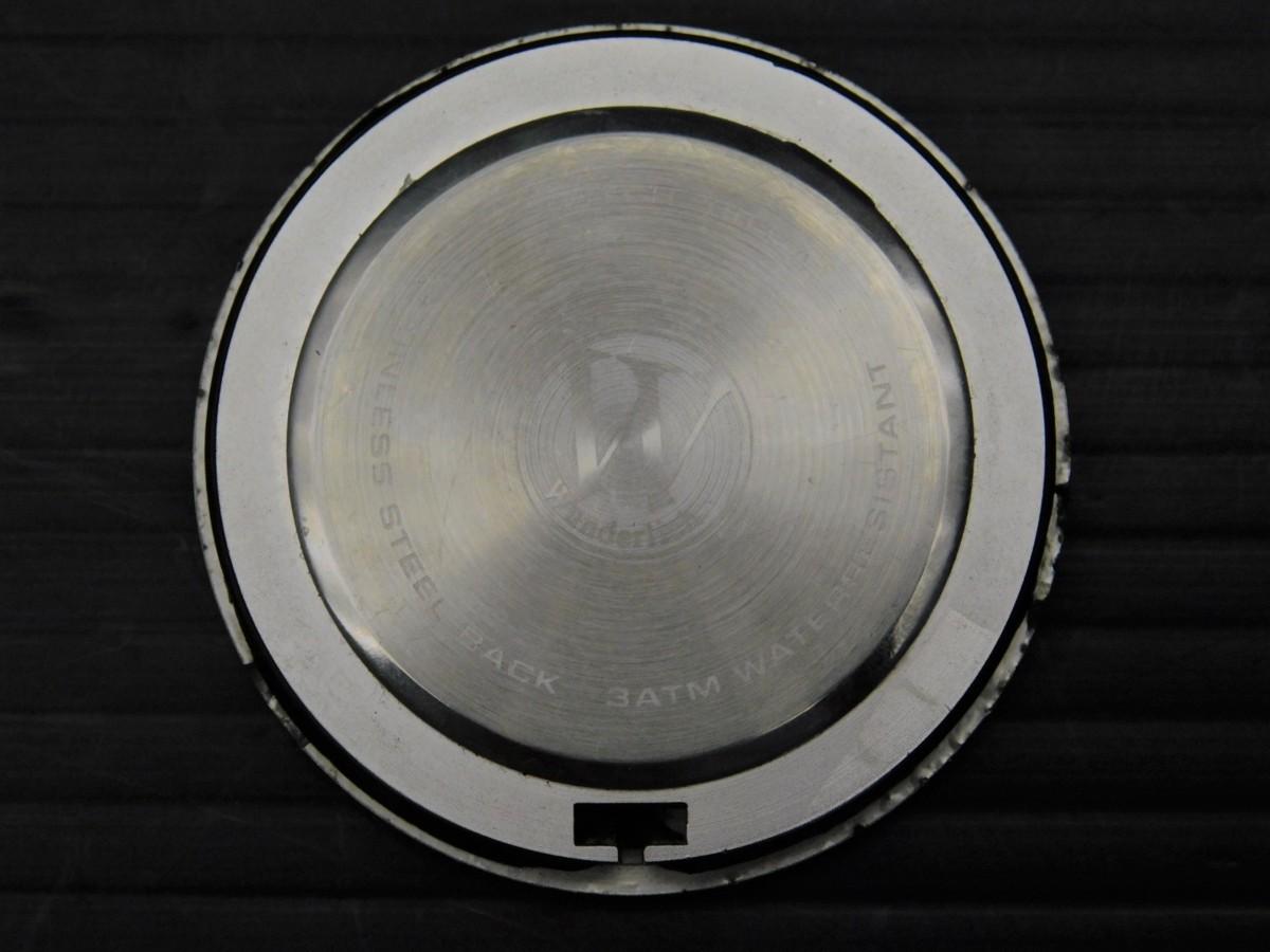 レア★良好 BMW R850R 社外 wunderlich ワンダーリッヒ アナログ 温度計 テンプ メーター キャップ型 付!! 純正 トップブリッジ Φ10_画像3