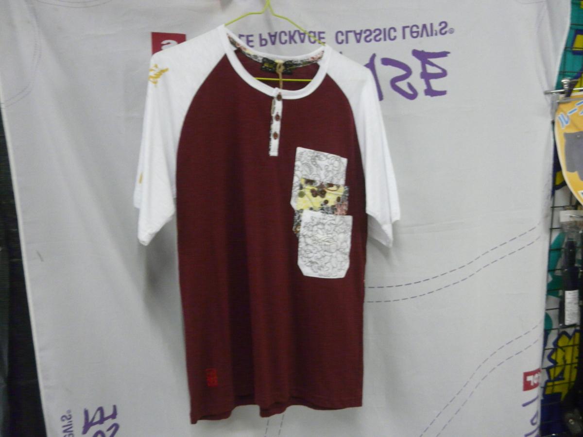 スカジャン*ヘンリー和柄半袖Tシャツ M 3132円の品_画像1