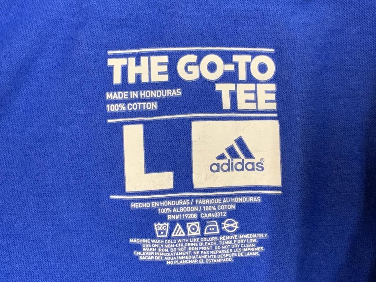 Adidas アディダス quick don't qvit 半袖 Tシャツ サイズL  アメカジ スポーツ 古着 トレーニングウエア ジム タイダイ_画像3