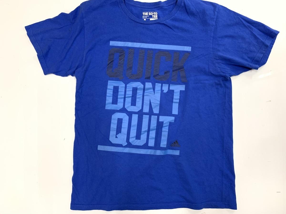 Adidas アディダス quick don't qvit 半袖 Tシャツ サイズL  アメカジ スポーツ 古着 トレーニングウエア ジム タイダイ_画像1