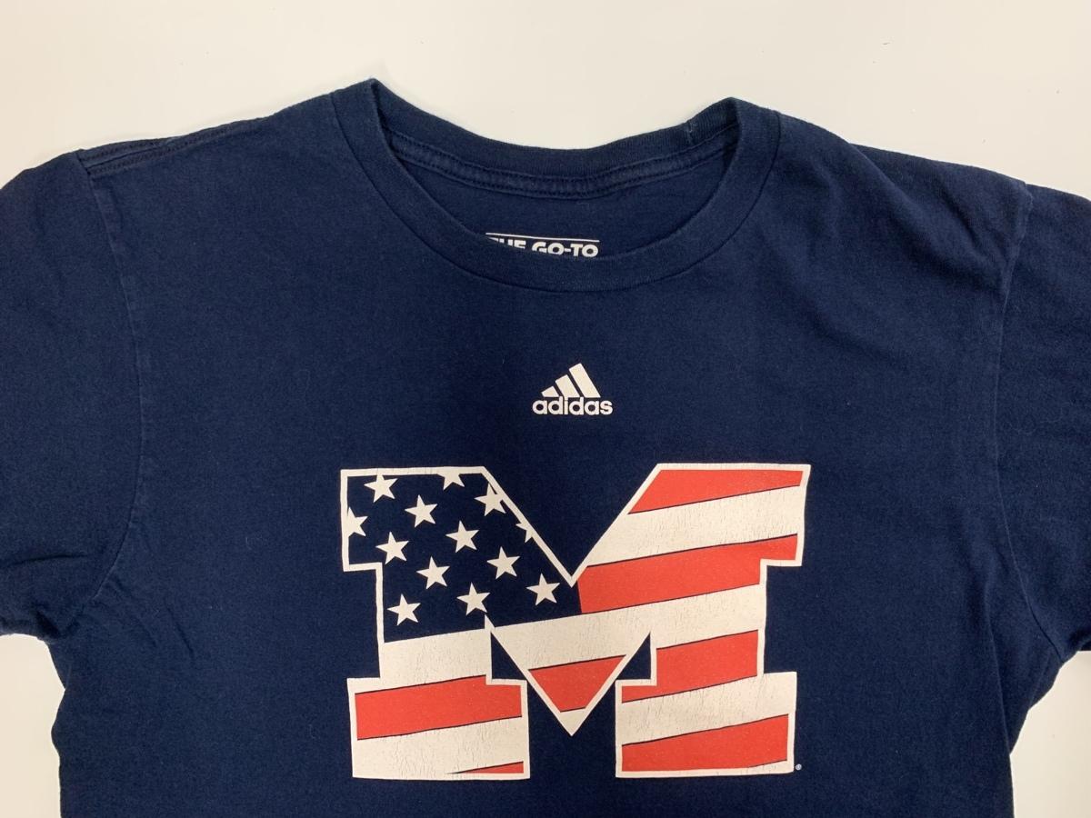 Adidas アディダス 半袖 Tシャツ 星条旗 M サイズM  アメカジ スポーツ 古着 スポーツウエア ジム トレーニング_画像2