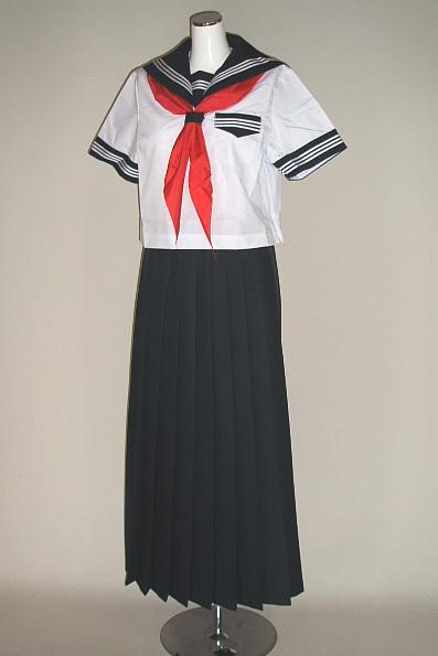 B9☆【新品】夏セーラー服セット(スケ番・超ロングスカート)超大