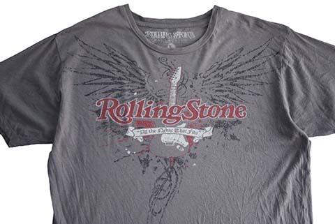 【L】 10's ローリングストーンズ ロックTシャツ バンドTシャツ 灰色 The Rolling Stones メンズLサイズ アメリカ古着_画像4