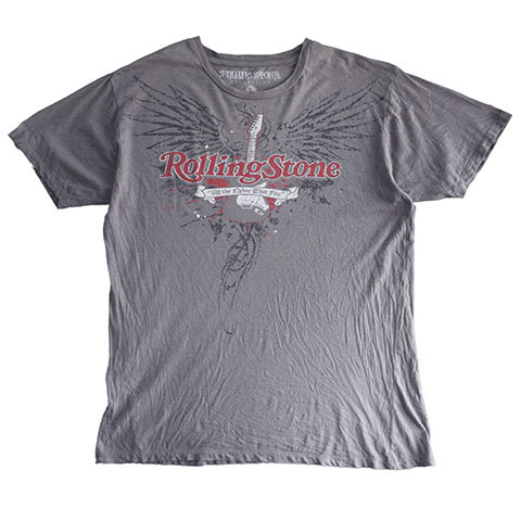 【L】 10's ローリングストーンズ ロックTシャツ バンドTシャツ 灰色 The Rolling Stones メンズLサイズ アメリカ古着_画像1