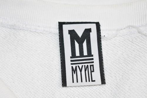 MYne MIHARA YASUHIRO/マイン ミハラヤスヒロ ロゴスウェットトレーナー サイズ:L カラー:ホワイト 19n07_画像3