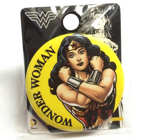 DCコミックワンダーウーマンWonderWoman 缶バッジイエロー_画像1