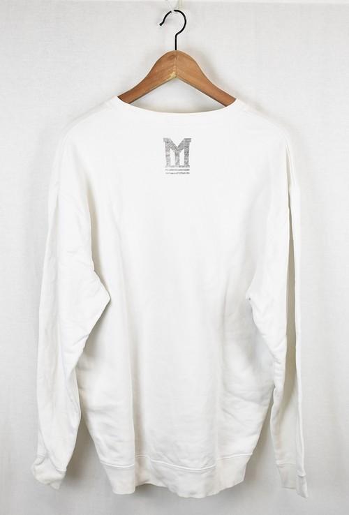 MYne MIHARA YASUHIRO/マイン ミハラヤスヒロ ロゴスウェットトレーナー サイズ:L カラー:ホワイト 19n07_画像2