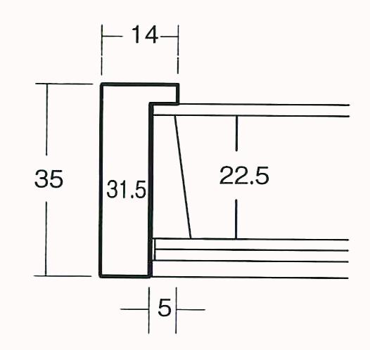 額縁 OA額縁 ポスター額縁 木製フレーム マルチボックスフレーム 5881 ブラウン B3サイズ_画像3