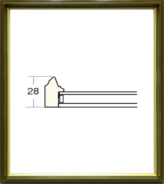 額縁 アートフレーム 色紙額縁 4954 (8X9寸) よもぎ_画像1