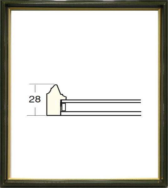 額縁 アートフレーム 色紙額縁 4954 (8X9寸) オリーブ_画像1