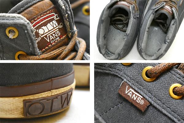 1点物◆バンズVans USA企画OTWミッドカットスニーカー古着メンズ31レディースOKアメカジ90sストリート/スポーツMixハーフキャブ靴880823_画像3